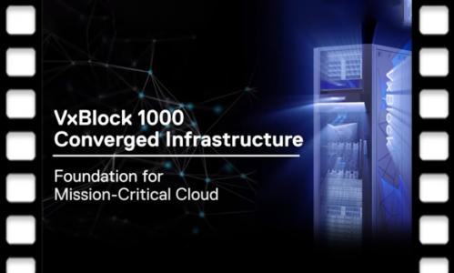 VxBlock 1000: de nieuwste geconvergeerde oplossing om de IT-infrastructuur te vereenvoudigen.